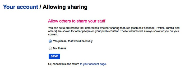 Allowing sharing01