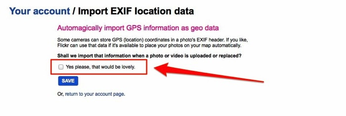 Import EXIF location data